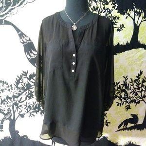 EXPRESS Black Blouse Size Large